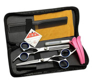 Wholesale salon hair cutting tool sets resale online - Hair Salon Tools Inch Hairdressing Tools Professional Salon Hair Cutting Thinning Scissors Barber Shears Hairdressing Set
