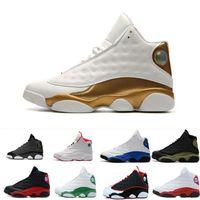 zapatillas sin látex al por mayor-Zapatos 13 Barato Envío Gratis Los mejores zapatos de baloncesto Hombre Jumpman sport 13 XIII Gato negro Hombres Zapatos de baloncesto Hombre Zapatillas de deporte para correr