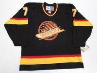 изготовленные на заказ nhl jerseys оптовых-Дешевые заказ Роннинг Ванкувер Кэнакс винтаж СКК хоккей Джерси черный ретро Джерси