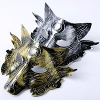 Wholesale woman mask costume online - Thickening Wolves Mask Terror Horrible Wolf Retro Masks Halloween Supplies Costume Ball Bar Party Festival Decor Party Mask CCA10253