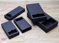 Wholesale Paper Box Printing - drawer shape Craft Gift Handmade Soap Packaging black Paper Boxes black kraft soap packaging box .12.02