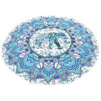 Wholesale beach art decor for sale - Group buy Indian Art Mandala Beach Throw Towel Round Boho Mat Tapestry Wall Hanging Decor