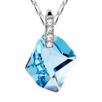 Wholesale genuine swarovski jewelry - Ladies Genuine Crystals from Swarovski Elements Pendants Necklaces For Women Classic Statement Necklace Jewelry Bijouterie Dropshipping 8332