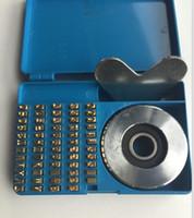 máquina de estampado de latón al por mayor-Estampado de calor conjunto de alfabeto máquina de prensa de calor FR900 FR770 conjunto de alfabeto fecha máquina de codificación números de serie número de latón para FR770