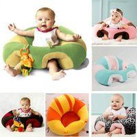bebek besleme sandalyesi toptan satış-Renkli Bebek Koltuğu Desteği Koltuk Yumuşak Kanepe Pamuk Emniyet Seyahat Araba Koltuğu Yastık Peluş Bacaklar Mama Sandalyesi Bebek Koltukları Kanepe