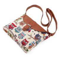 Wholesale gyms pictures - Wholesale owl picture canvas handbag jacquard single shoulder bags ladies Satchel Bag women folk style 4 colors