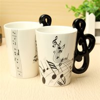 Wholesale Musical Water - Hot !Stave Music Notes Mug Ceramic Tea Coffee Milk Cup Musical Items Drinkware Porcelain Mugs Water Bottle For Office Home
