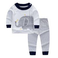 blusa amarilla bebé al por mayor-ropa de bebé conjuntos blusa manga larga camiseta pantalones pantalones detalles animal print 6 12 18 24 36 meses 2 3 años rojo blanco amarillo