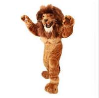vestidos venda de fábricas venda por atacado-Alta Qualidade Leão Traje Da Mascote tamanho adulto corajoso Leão traje Dos Desenhos Animados do Partido vestido extravagante venda direta da fábrica