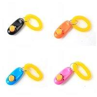 вспомогательные средства оптовых-Универсальное животное Обучение животных Clicker Пластиковые тренировочные принадлежности для собак Agility Trainer Aid Wrist Strap Button Hot Sale 3tt Y