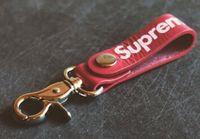 Wholesale face keychain - Tide brand men women unisex keychain fashion street style BOX LOGO keychain personality jewelry key rings