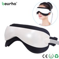 Wholesale infrared vibration massager - Electric DC Vibration Eye Massager Machine Music Magnetic Air Pressure Infrared Heating Massage Glasses Eye Care Device