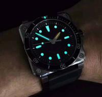 Wholesale Swiss Sport Dive Watch - 2018 Mens Superlative NOOB Factory 42mm AVIATION BR 03-92 Swiss CAL.9015 Movement Automatic Black rubber Super luminous Dive Watches
