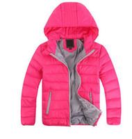 veste d'extérieur pour filles achat en gros de-2018 Manteau chaud à capuchon pour enfant Manteau chaud en coton pour enfant Manteaux pour enfants Vestes pour enfants de 3 à 10 ans