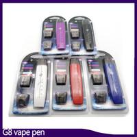 ingrosso bullet vape-Kit penna vape G8 Fumo piatto doppio proiettile 300mAh con atomizzatore con anima in cotone da 1 ml Batteria penna vape mod VS suorin drop 0268084-1