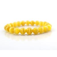 ingrosso pietra gialla agata-Perle di pietra per gli uomini di pietra gialla 8MM Beads per uomo Braccialetti per le donne Bracciali di leopardo con pietre preziose per gli uomini Yoga Bracel
