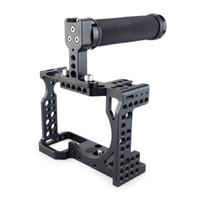 ingrosso gabbia superiore maniglia dslr-vendita all'ingrosso DSLR Camera Cage con maniglia superiore per Sony A7II / A7III / A7SII / A7M3 / A7RII / A7RIII fotocamera a rilascio rapido Kit di estensione