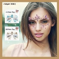 Wholesale unique tattoos - Eco Friendly Colorful Resin Drill Stickers Fashion Unique Design Novelty Decoration Creative Makeup Crystal Face Tattoo Sticker 4 6yy Z