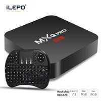 ingrosso la migliore casella tv mxq-Box TV MXQ Pro 4K Rockchip RK3229 Supporto per lettore multimediale in streaming Android 7.1 3D Free Movies best seller modello 2018 TV BOX