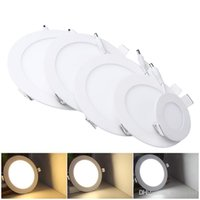 Wholesale bedding prices online - Lowest Price Ultrathin W W W W W LED Panel Lights SMD2835 Downlight AC110 V Fixture Ceiling Down Lights Warm Cool Natural White