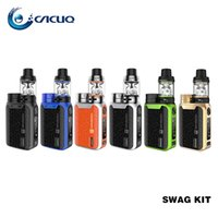 Wholesale black box e cig resale online - Vaporesso Swag Kit e cig W Battery TC Box Mod and ml NRG SE Tanks Authentic e cigarettes vape Kits