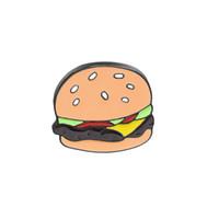 Wholesale christmas brooches online - Fashion Cartoon Mini Hot Hamburgers Brooch Enamel Pin Denim Jackets Collar Hat Badges Metal Brooches Pins Clothes Accessory