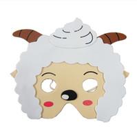 ingrosso maschera di partito animale dei bambini-KIDS ANIMAL MASK FOAM EVA FANCY DRESS PINNATA LOOT PARTY BAG FILLERS GIOCATTOLI pecore