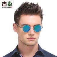 ingrosso occhiali da sole polarizzanti circolari-Occhiali da sole circolari polarizzati classici di COOLSIR Uomini che guidano occhiali da sole rotondi occhiali da sole unisex vintage per le donne