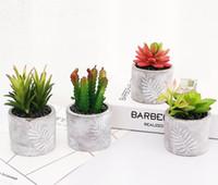 ingrosso decorazione del vaso del fiore del giardino-Piante artificiali Bonsai piante da vaso piante fiori finti Ornamenti in vaso per la decorazione domestica Hotel Garden Decor