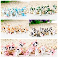 Wholesale wholesale doll kits - Super Lovely Cheese Cat Mini Doll Cute Micro Landscape Garage Kit Decoration Ornament Fun Desktop Crafts High Quality 1 05xz ZB