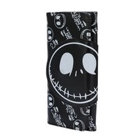 the nightmare before christmas cartoon leather long wallet for men and women kids halloween gift jack skellington wallet card holder