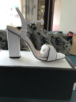 chaussures à talons hauts achat en gros de-8087 Couleurs Date 2018 marque de luxe design En Cuir Femmes Stud Sandales Slingback Pompes Dames Sexy Talons Hauts 10 cm chaussures