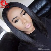 Wholesale front hair cut indian style online - Human Hair Wigs Bobs Short Cut Styles Glueless Vrgin Remy Front Lace Short Wigs Black Women Bob Lace Wig With Baby Hair