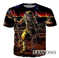 Wholesale Iron Man Clothes - 2018 Newest Summer Tees Men Women Loose T-shirt Cartoon Anime 3D Printing Iron Maiden Casual pullovers T Shirt Clothing US24