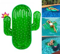 Wholesale Giants Rings - Giant Inflatable Cactus Float Ride-On Swimming Ring Adults Children Piscina Mattress Lounger Water Sports Toys DDA254