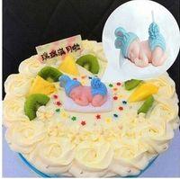 bebek mavisi mumları toptan satış-Mavi Pembe Renk Bebek Elbise Için Dolunay Kek Dumansız Alevsiz Mumlar Tatil Düğün Doğum Günü Partisi Malzemeleri Hediye 1 ADET