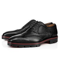 Wholesale flat sole oxford shoes for sale - Elegant Gentleman Wedding Dress Party Red Bottom Charlie Me Flat Loafers With Tassel Genuine Leather Lined Lug Sole Luxurious Moccasin