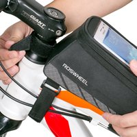Wholesale waterproof phone holder for bike resale online - Cycling Bicycle Bike Cell Mobile Phone Front Frame Tube Storage Bag Pannier Case Holder for quot Screen Phones Bicycle Accessories
