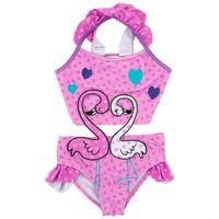 Wholesale children cute swimwear for sale - Girls Swimwear Beach Kids Swan Print One piece Polka Dot Swimsuit Baby Swimming Clothes Summer Fashion Children Cute Bikini