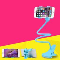 универсальный держатель для универсального телефона оптовых-Универсальный 360 вращающийся гибкая длинная рука сотовый телефон держатели стенд ленивый кровать настольного планшета автомобиля selfie кронштейн