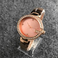 Wholesale unique lady - High quality Ultra thin rose gold Bracelets Unique popular design diamond woman watches 2018 brand luxury ladies dresses wristwatch clock
