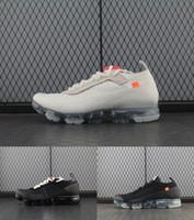 zapatos corrientes masculinos al por mayor-V 2018 Hombres Zapatillas para los entrenadores Atlético Mujeres Zapatos deportivos Blanco Vap Wave Male Shoe Triple negro Icy Blue Bottom