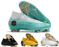 Wholesale kids ankle football boots superfly online - Football Boots Men Mercurial Superfly VI Elite Soccer Shoes Kid High Ankle CR7 Soccer Cleats FG Chuteiras Futebol Original Profissional