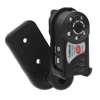 ingrosso telecamere a microfono costruite wireless-Q7 Mini videocamera digitale DVR WiFi DVR wireless Videocamera portatile Registratore di movimento per la visione notturna Camera Motion Detection Microfono incorporato