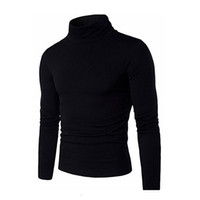 Wholesale Black Light Sweater - New Fashion Men's Mock Neck Slim Casual Light Weight Chunky Sweater Tops