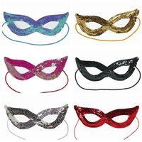 óculos fantasia vestido venda por atacado-Lantejoula Halloween Máscara Facial Cosplay Masquerade Mulher Olho de Gato Óculos Fancy Dress Up Festa de Natal XMAS Máscara Acessórios AAA806