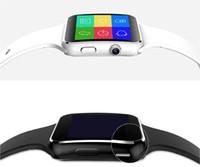 neues kartentelefon großhandel-Neue ankunft x6 smart watch mit kamera touchscreen unterstützung sim tf karte bluetooth smartwatch für iphone xiaomi android phone