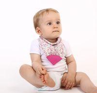 baberos de silicona envío gratis al por mayor-Buena calidad a prueba de agua baberos de bandana de silicona recién nacido paños de eructo de algodón infante molar baberos toalla de saliva envío gratis