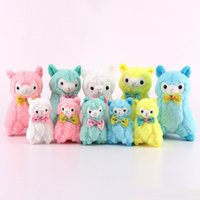 Wholesale wholesale dolls for sale - Hot Sale 10pcs Lot 11CM   18CM Alpaca Sheep Plush Stuffed Animals Alpacos Doll Toy Gifts for kids