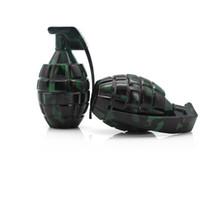 moulins à grenade achat en gros de-Alliage de zinc en métal de camouflage de forme de grenade fumant le tabac de broyeur 3 couches 20PCS / LOT